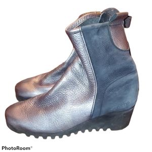 Arche Silver Larazo Wedge Ankle Boot